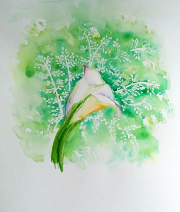 Lily. This new painting is an example of my more realistic tendencies.